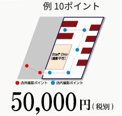 例 10ポイント 50,000円(税別)