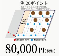 例 20ポイント 80,000円(税別)